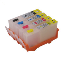 For HP 670 XL hp670 BK C M Y Refillable ink Cartridge 4 color for HP deskjet 3525 4615 4625 5525 6525 printer with chip