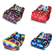 Super Cloth DIaper,One Size Fits All Pocket Diaper Stay Dry Baby Diaper for 8lbs to 40lbs (1PCS Bamboo Insert)
