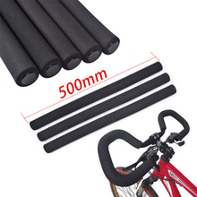 Bicycle Butterfly Handlebar Grip Cycling Shock-absorbing Matte Soft Foam Sponge Grips Handle Bar 50CM Black Travel Bike PA0104(China)