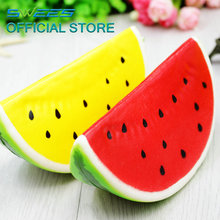 2017 New Jumbo Kawaii 15CM Squishy Watermelon Super Slow Rising Squeeze Stretch Scented Bread Cake Kid Toy Gift Phone Straps