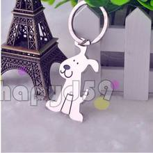 alloy cute pet dog model keychain key ring wedding key chain advertising gift keychain