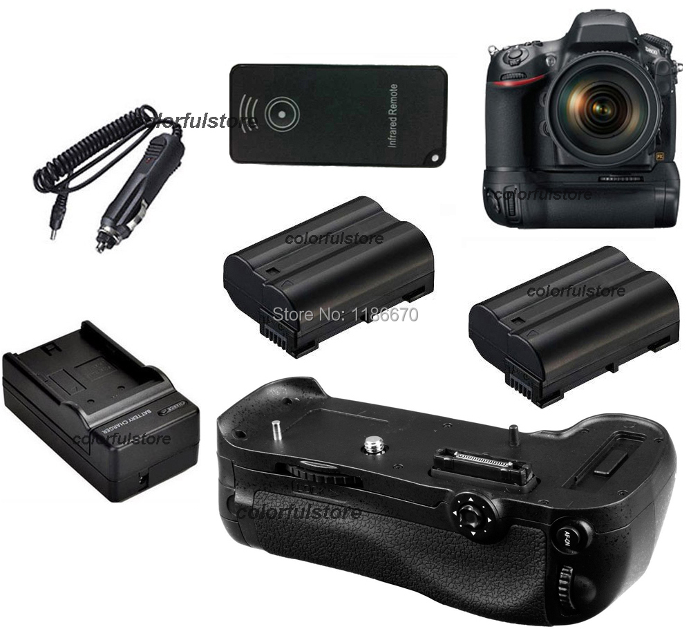 Hot Sale Battery Hand Grip Holder Pack Vertical Shutter For Nikon D800 D800E Camera as MB-D12+IR Remote +2 x EN-EL15+Car Charger<br><br>Aliexpress