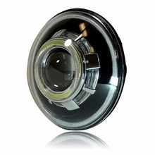 Black cover 7 Inch Hi/ Lo HID bulb Car Headlight 12V 24V Driving head Light for Jeep Wrangler