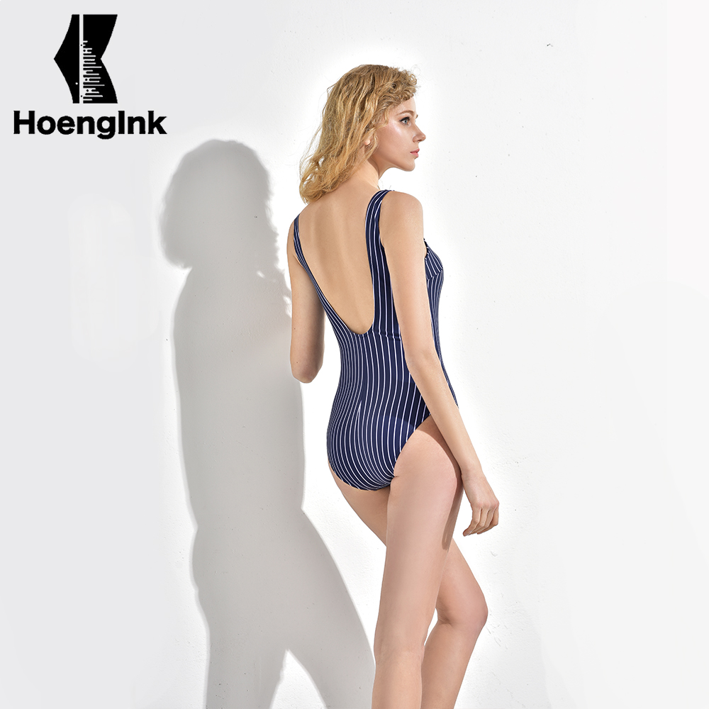 BRANDMAN blue plus white naval style swimwear, no back sexy design, high quality fabric wearing comfortable and breathable 7056<br>