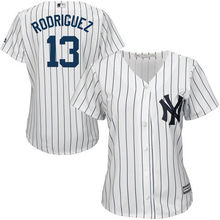 MLB Women's New York Yankees Alex Rodriguez White Home Cool Base Player Jersey(China)