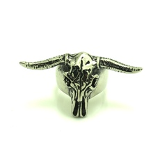 316L Stainless Steel Cool Cow Polishing Head Silver Ring
