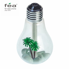 FEA 400ML Bulb Humidifier USB Portable Desktop LED Color Night Lights Diffuser Mist Air Purifier for Office Room