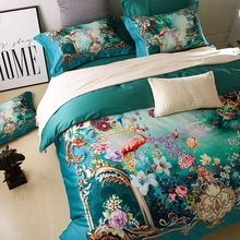Modern designer bedding flamingo/3d floral duvet cover set Egyptian cotton bedlinen pillowcase duvet cover queen king customized