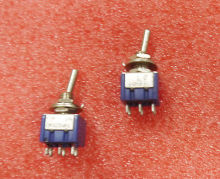 10XMTS 202 Latch Miniature Toggle Switch 6Pin ON ON 2 Positions DPDT 6mm hym