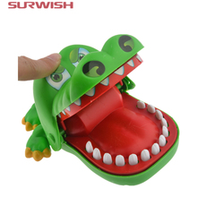 Surwish Hot Sale Crocodile Dentist Bite Finger Game Funny Toys for Kids Baby Children(China)
