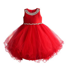6-11y Kids Christmas Dress 2017 New Princess Party Dresses Cute Girls Wedding Dress High-quality Goods Princess Children Clothes(China)