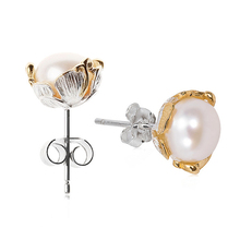 LARGERLOF Pearl Earrings 925 Sterling Silver Earrings Fashion Stud Earring Women ED10245(China)