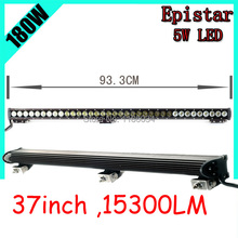 Free UPS ship!37inch 180W 15300LM,1pcs/set,10~30V,6500K,LED working bar,Boat,Bridge,Truck,SUV Offroad car,black!30W 60W 240W