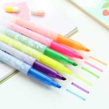6 pcs/Lot Color highlighter with aroma Cute duck & birds marker pen for reading School supplies Stationery Office tools 6344(China)