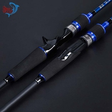 2-Piece Ultra Light Lure Fishing Rod, SHENGHE Series Spinning / Casting Handle Carp Fishing Rods Carbon Fiber Blue & Black(China)