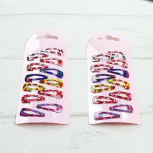 24Pcs Girls Colorful Metal Snap Hair Clips with Cute Mini Reborn Hairpin Headdress Clips Small Hair Accessories Free Shipping