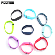 Large Size Colorful 3D Texture TPU Replacement Band Bracelet For Fitbit Flex Smart Band Wristband Bracelet With Activity Clasp(China)