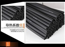 Thick 15mm/Air conditioning rubber insulation pipe/tube foam/air conditioning water pipe/solar rubber sponge/cotton insulation