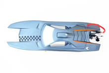 M380 KIT Electric Racing Speed Boat Catamaran Pre-Painted Hull Only RC Boats Grey