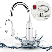 Mayitr Instant Electric Water Heater Kitchen LED Display Electric Hot Cold Water Tap Heater Electric Heating Faucet tap+AU Plug