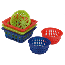 6pcs 1:12 Dollhouse Miniature Baskets for Storage Fruit Vegetables Classic Kitchen Toy Pretend Play Furniture Toy for Kids Gift