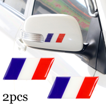 2pcs New car sticker France Decorative Badge car body for BMW MINI Ford focus suzuki lifan emgrand ssangyong Car Emblem Sticker