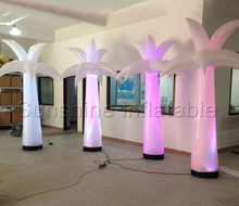 2016 hot selling led lighting inflatable palm tree for wedding decorations, party lighting decoration  inflatable coconut tree