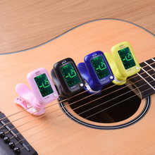 ENO Guitar Tuner Guitar Part Musical Instrument Clip-on Style With Blue Green LCD Display Vibration Pickup Mode Sup Wholesale(China)
