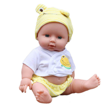 Baby Kids Reborn Baby Doll Soft Vinyl Silicone Lifelike Sound Laugh Cry Newborn Baby Toy for Boys Girls Birthday Gift