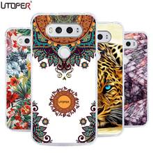 DIY Cases For LG V20 Cover H990DS H910 US996 Painted Custom Logo Name Design Case Cheetah Marble Stars Soft Silicone Phone Cover