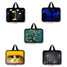 "Cute Designs Tablet PC Bag For 10""13""15""17"" inch neoprene Notebook protective Netbook sleeve Painted Laptop Cover(China)"