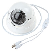 1/3 Sony Effio CCD 800TVL IR 2.8-12mm Lens Varifocal Color Outdoor Dome CCTV Camera