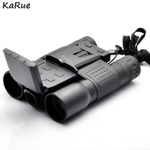 KaRue FS-318R Digital Camera 2.0 5MP CMOS 12x32 Binocular Camcorder Telescope lens microSD / TF black free shipping(China)