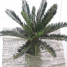 Artificial Phoenix Coconut Palm Evergreen Cycas Fern Plant Tree Wedding Home Office Furniture Decor Lifelike  Green No Vase F51