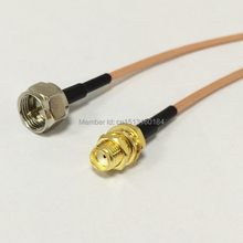 "New Modem Extension Cable SMA Female Jack To F Male Plug Connector RG316 Coaxial Cable 15CM 6"" Adapter RF Pigtail"