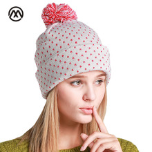 2017 Winter Beanie Hats for Women Autumn Female Warm Ear Protection Cuff knitted Cap Stocking Hat Blended Hair Ball Ski Bonnet