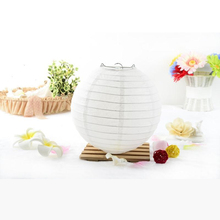 10-15-20-25-30-35-40cm White Color Chinese Paper Lanterns for Wedding Event Party Decoration Holiday Supplies Paper Ball