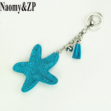 Naomy&ZP Brand Crystal Star Key Chain Women Car Pendant Key rings Key Holder Bag Finder Wallet Jewelry Purse Keychain For Gift(China)