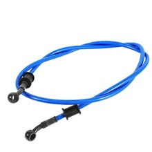 120cm Motorcycle Braided Stainless Steel Brake Clutch Oil Hose Line Pipe Blue New