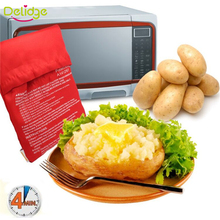 Delidge 2 Pcs/Lot Oven Microwave Baked Red Potato Bag For Quick Fast( cook 8 potatoes at once )  In Just 4 Minutes Potato Bags