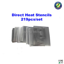 219 pcs/lot Direct heat stencils for bga reballing for Desktop, Laptop, PS3, Xbox 360, etc(China)
