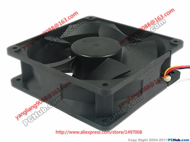 Free Shipping Emacro Y.S.TECH  FD121238EB DC 12V 0.83A 3-wire  3-pin 120x120x38mm Server Cooling Square fan            <br>
