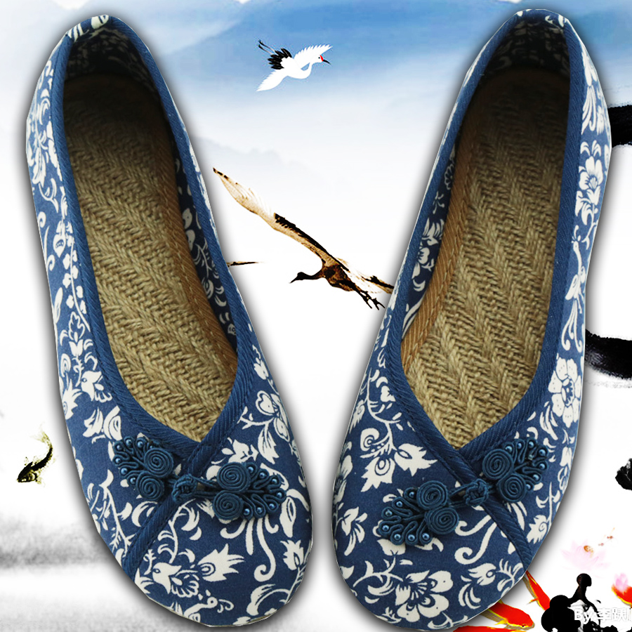 canvas Flats Size(35-40) Women Chinese Flax Shoes Style Nation Comfortable Soft Sole Women Embroidery Dance Shoes 2017 handmade<br><br>Aliexpress