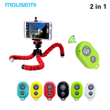 MOUSEMI Car Phone Holder Wireless Bluetooth Timer Remote Shutter Button Flexible Octopus Tripod Bracket Selfie Stand Mount Car(China)
