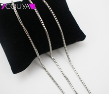 2017 New Fashion Classic 316L Stainless Steel 2mm Box Chain Necklace Mens Silver Chain Necklace Free shipping(China)