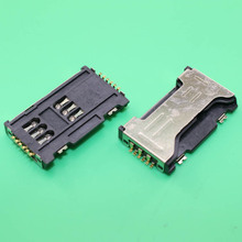 YuXi Free shipping Sim Card Reader SIM Card Slot for GT-C6712 , GT-S7562 Galaxy S Duos(China)