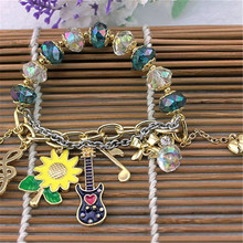 Europe and the United States jewelry wholesale fashion new guitar flowers and plants combination  madem  bracelet