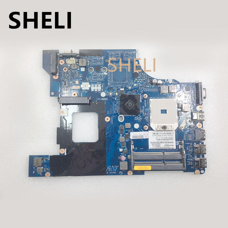 SHELI 04W0417 11S0B50850Z Laptop Motherboard For Lenovo ThinkPad Edge E535 QALEB LA-8124P FS1 DDR3 Mainboard With Free CPU Works