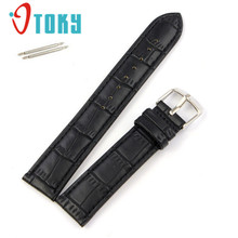 OTOKY 1 pc Soft Sweatband Leather Strap Steel Buckle Wrist Watch Band 18mm,20mm,22mm #30 Gift