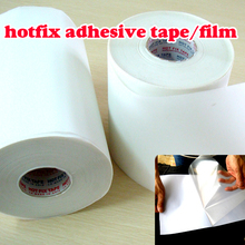 Hot fix paper & tape 10M length/Lot ,24CM wide adhesive iron on heat transfer film super for HotFix rhinestones DIY tools Y2645(China)